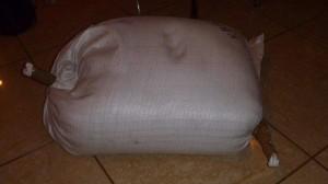 Зеленая гречка в мешке - Нарушение целостности в ТК
